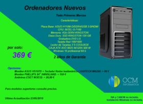 Ordenadores nuevos desde 369€