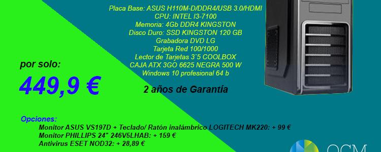 Ordenadores nuevos por 449,9€