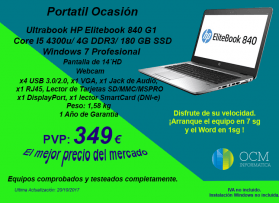 HP Elitebook Core I5 por 349€