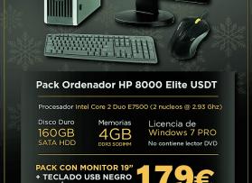 Equipo HP8000 + Monitor, teclado y ratón desde 179 €