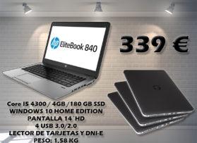 Portatil HP ELITEBOOK 840 G1 con disco SSD