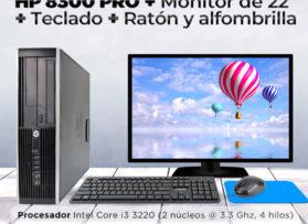 Ordenador HP 8300 PRO + Monitor de 22´+ Teclado + Ratón y alfombrilla